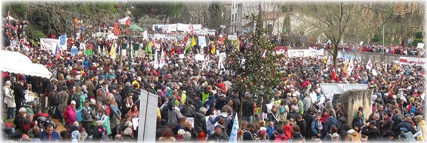 Non au gaz et pétrole de schiste : retour sur le Grand Rassemblement à Barjac le 28 février