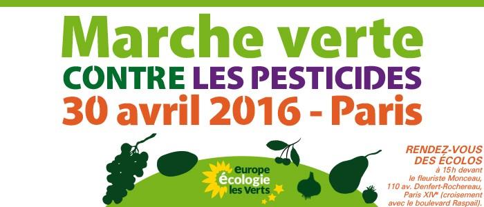 Marche verte du 30 avril à Paris contre les pesticides