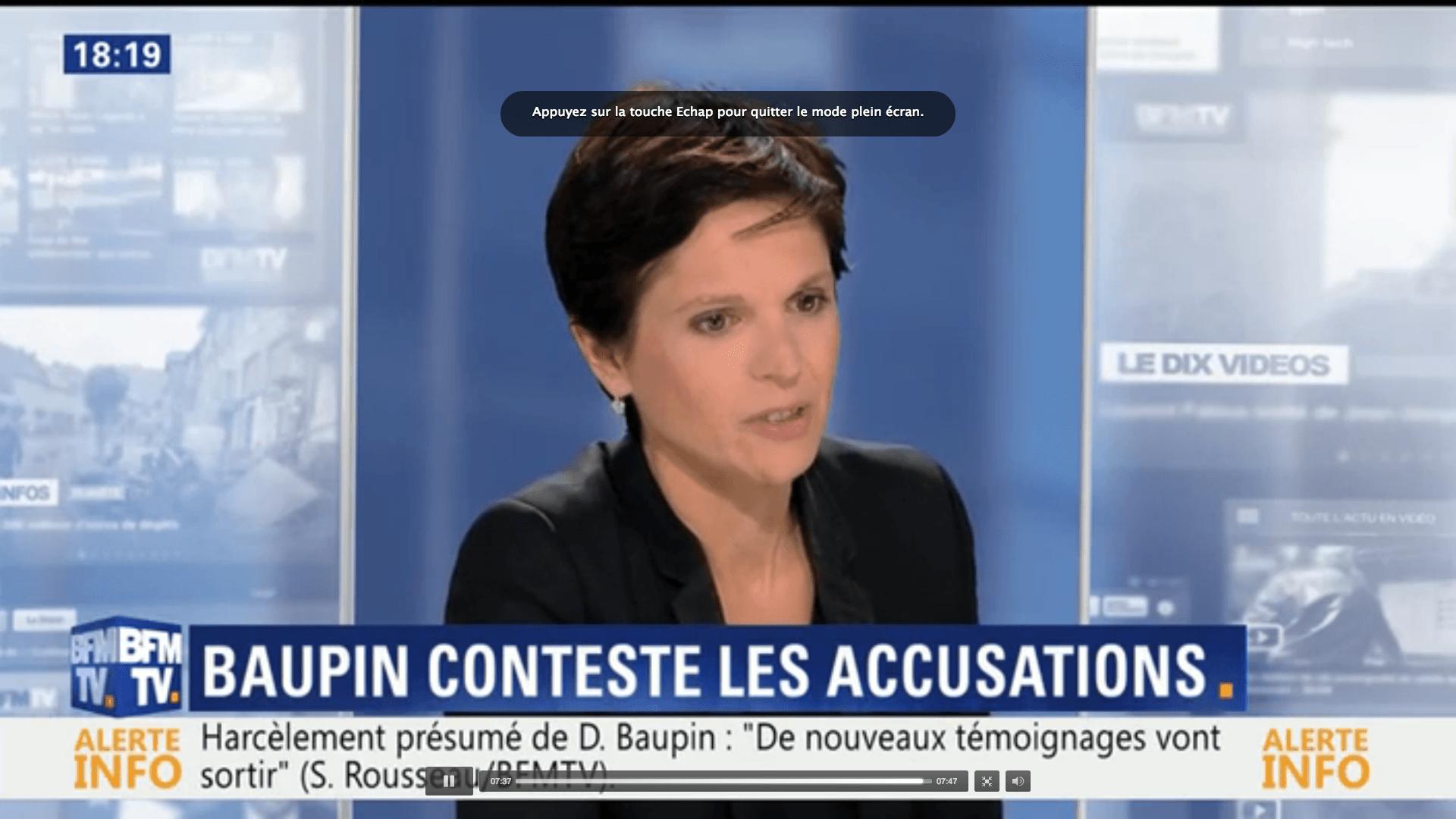 Sandrine Rousseau, invitée de BFM Story – Affaire Denis Baupin: Les élues écologistes ont décidé de briser l'omerta
