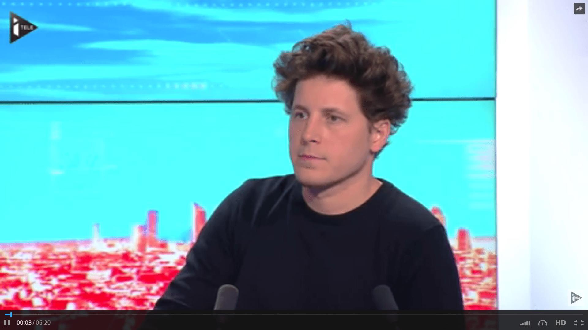 Julien Bayou, invité de L.Ferrari, Itélé , «Denis Baupin doit démissionner de l'Assemblée nationale»