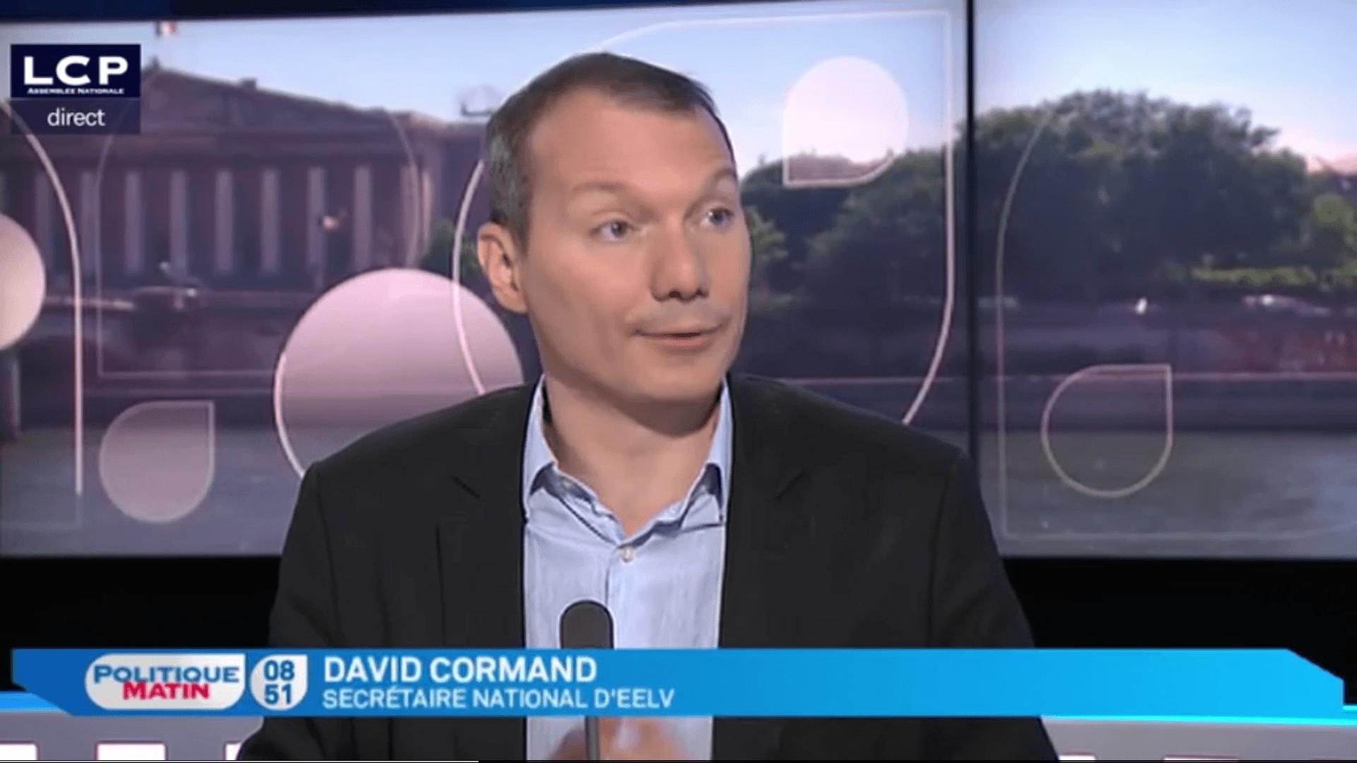 David Cormand, invité de LCP matin
