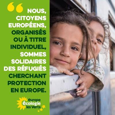 Visuels de soutien aux réfugié.e.s