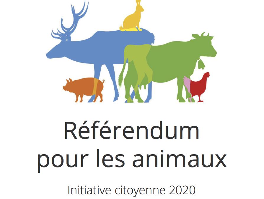 EELV soutient le référendum pour les animaux