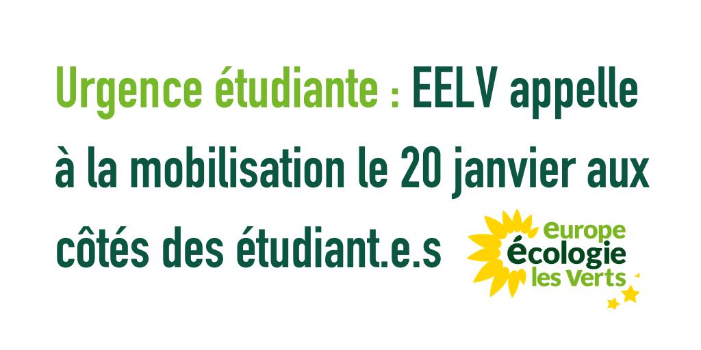 Urgence étudiante : EELV appelle à la mobilisation le 20 janvier aux côtés des étudiant.e.s