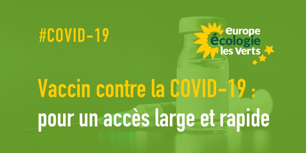 Pour un accès large et rapide au vaccin contre la COVID-19