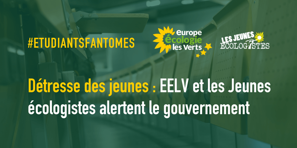 Détresse des jeunes : EELV et les Jeunes Écologistes alertent le gouvernement !