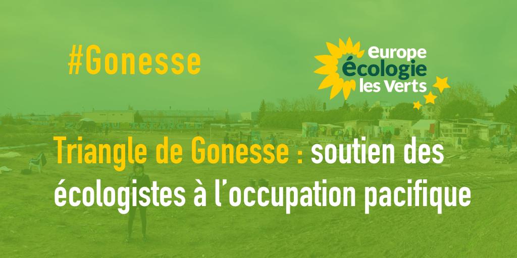 Soutien des écologistes à l'occupation pacifique du triangle de Gonesse