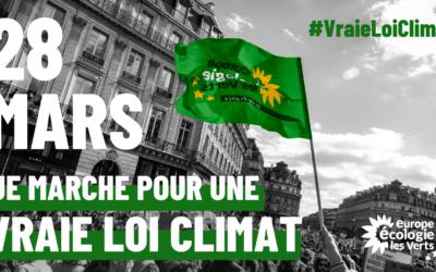 Les écologistes se mobilisent pour une vraie loi climat !
