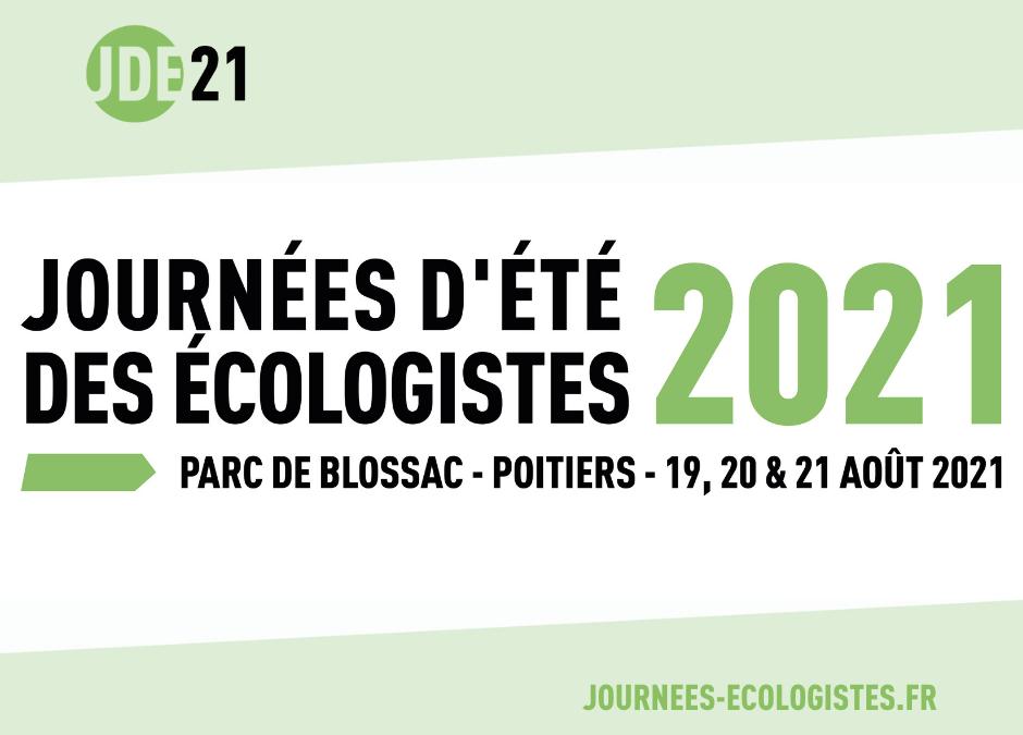 Les Journées d'été des écologistes 2021 c'est parti !