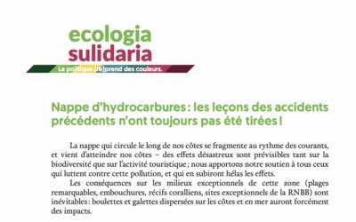 Nappe d'hydrocarbures en Corse : les leçons des accidents précédents n'ont toujours pas été tirées !