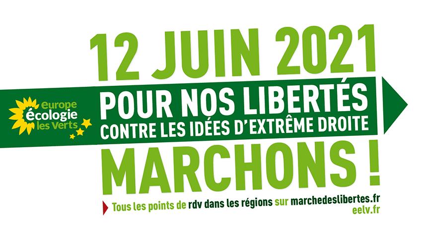 Marche pour les libertés et contre l'extrême droite – 12 juin 2021