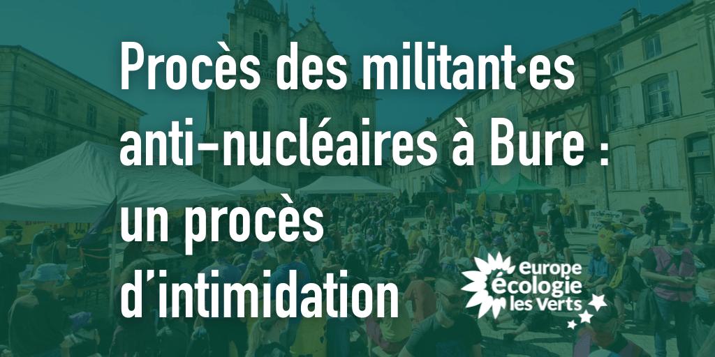 Procès des militants anti-nucléaires à Bure : un procès d'intimidation