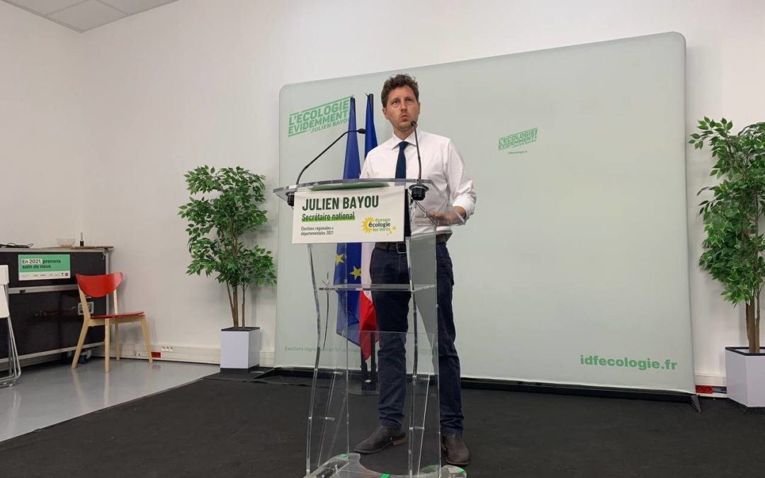 Discours de Julien Bayou, dimanche 20 juin – premier tour des élections régionales et départementales 2021