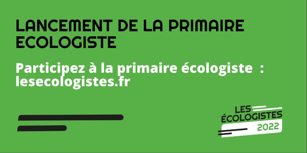 Primaire des écologistes : c'est parti !