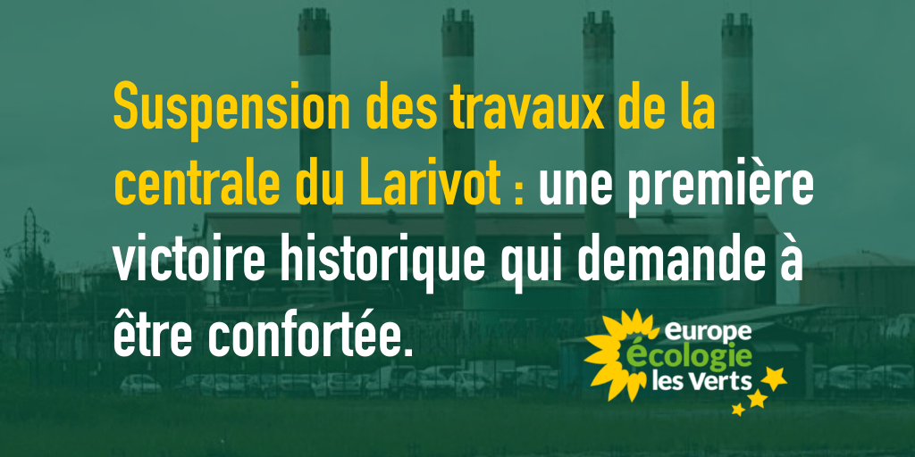 Suspension des travaux de la centrale du Larivot : une première victoire historique