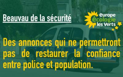 Beauvau de la sécurité : des annonces qui ne permettront pas de restaurer la confiance entre police et population.