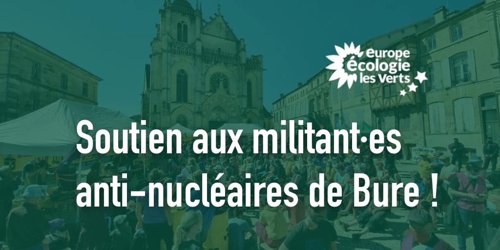 Soutien aux militant·es anti nucléaires de Bure !