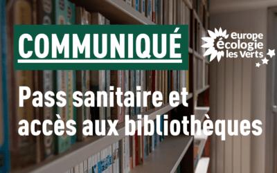 Pass sanitaire et accès aux bibliothèques