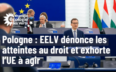 Pologne : EELV dénonce les atteintes au droit et exhorte l'UE à agir
