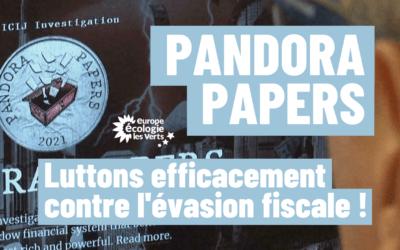 Pandora Papers : EELV appelle au courage politique face à l'évasion fiscale