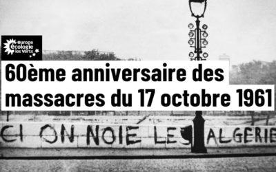 60ème anniversaire des Massacres du 17 octobre 1961 : reconnaître le crime d'Etat